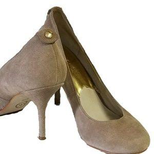 MK MICHAEL KORS leather suede pump heels